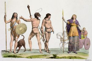 Ancient and Modern: tattooed Britons model contemporary fashions
